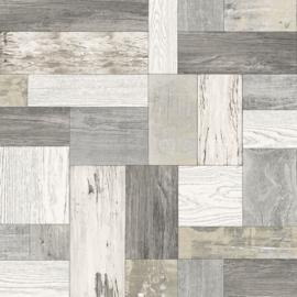 Dutch Trilogy FD25383 plankengrijs wit hout
