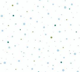AS 381161 stippen witte achtergrond blauw groen stippen