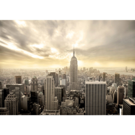 Fotobehang poster 0037 skyline new york empire state building