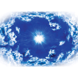Fotobehang poster 1630 wolken hemel lucht zon blauw