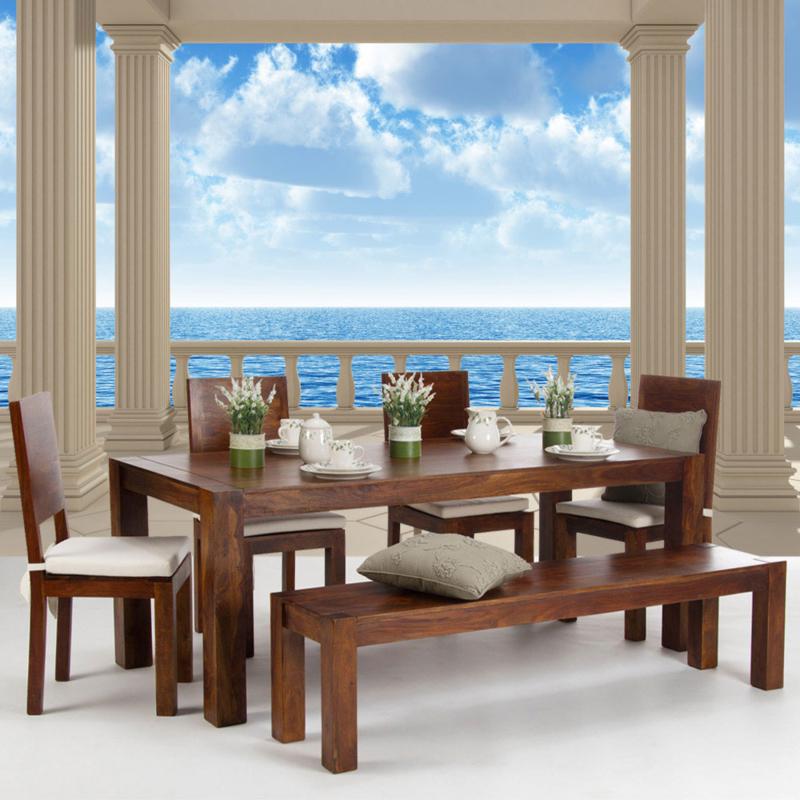 Fotobehang poster 0122 uitzicht op zee terras pilaren zeezicht