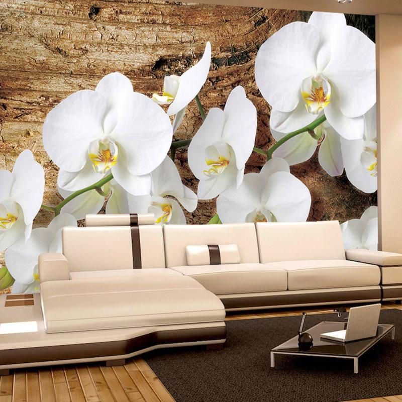 Fotobehang poster 1323 bloemen orchidee wit