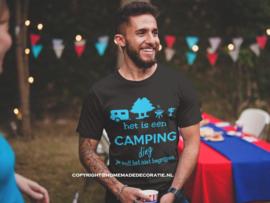 Camping  ding Tshirt heren/dames