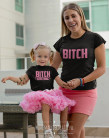 Bitch set met kinder /  baby shirt hartjes