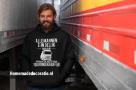 alle mannen zijn gelijk hoodie
