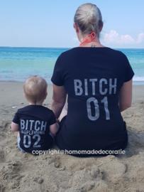 Bitch set met kinder /  baby shirt