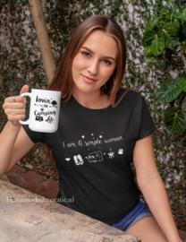 Camping woman tshirt