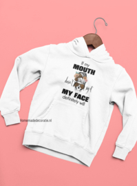 Hoodie  if my mouth skull