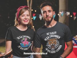 Ik ga zwemmen in bacardi lemón T-shirt unisex