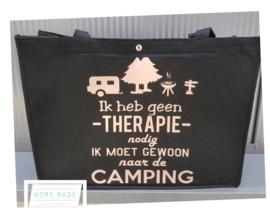 camping tas zwart