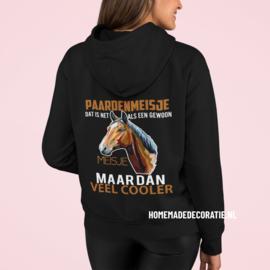 Paarden Meisje hoodie  fullcolor 2021