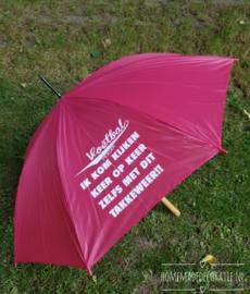 Limited editie paraplu  roze voetbal