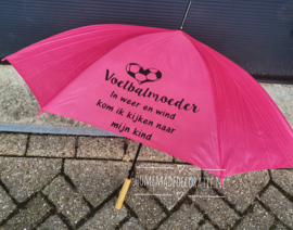 paraplu  roze voetbal hart