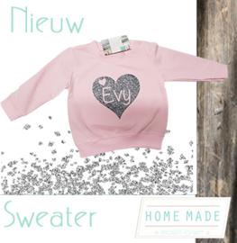 Sweater hart met naam