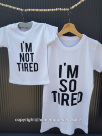 tired moeder  kind set Tshirt