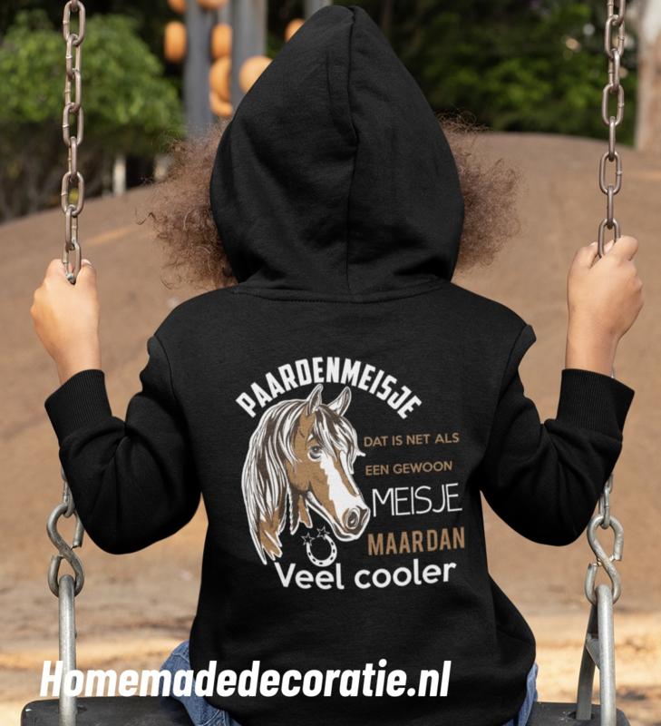 Paarden Meisje hoodie  fullcolor
