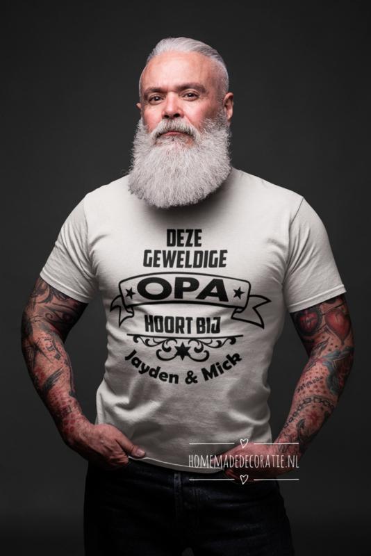 Tshirt  deze papa/ opa hoort bij...