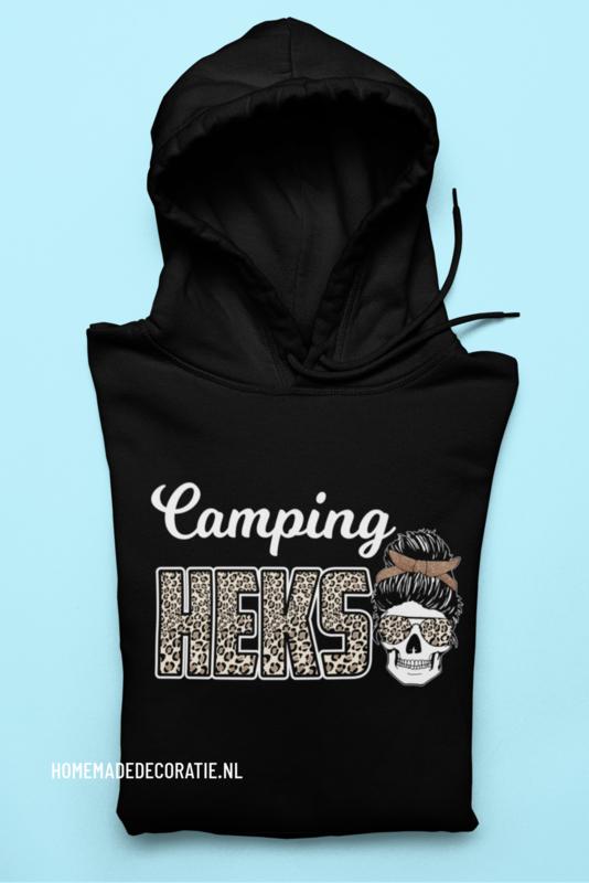 Camping heks  Hoodie met skull zwart