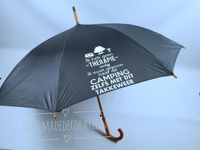 paraplu camping zwart