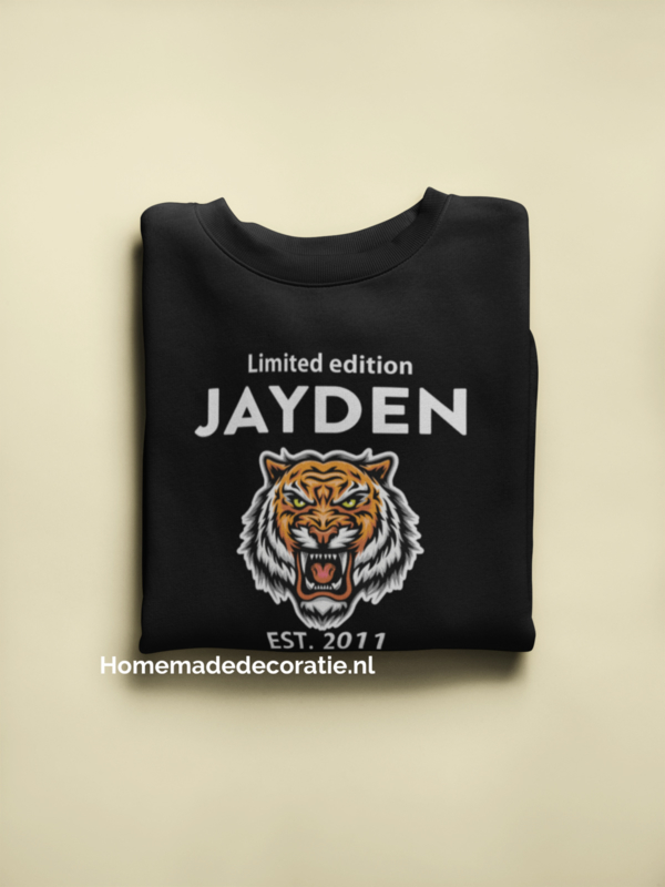 Sweater limited edition tijger