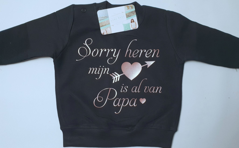 Sweater sorry heren mijn hart