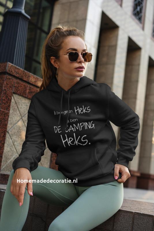 Ik ben geen heks ik ben de camping heks hoodie