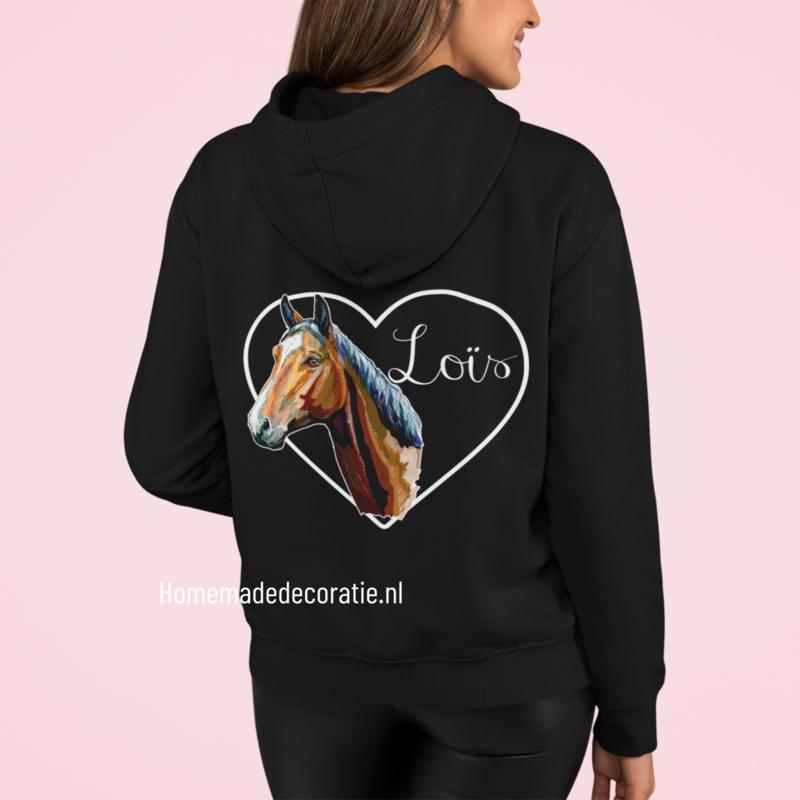 Paarden hoodie fullcolor