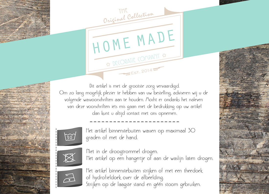 Wasvoorschift Homemadedecoratie.nl