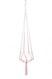 macrame hanger pink #0201