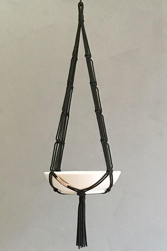 macrame hanger black #0601