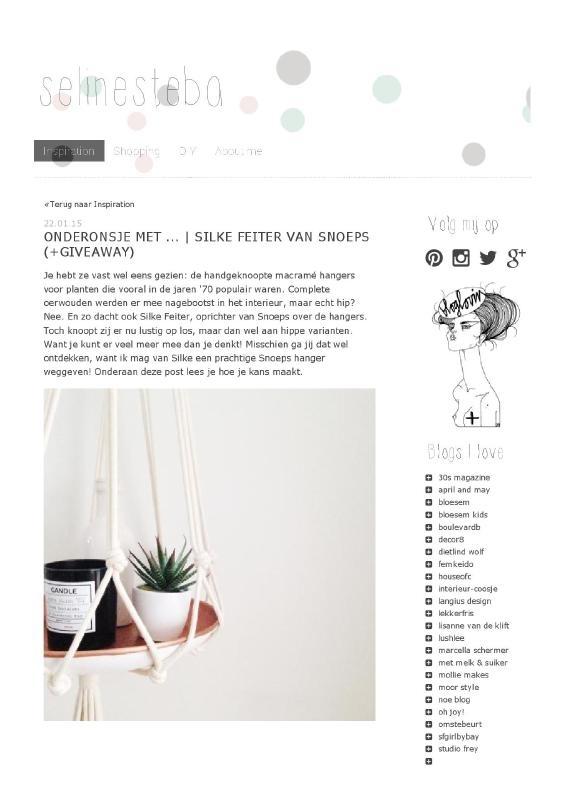 selinesteba - onderonsje met Silke van Snoeps