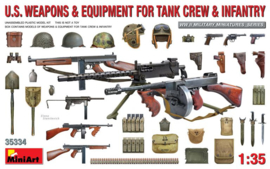 MN35334 1:35 Miniart U.S. WEAPONS & EQUIPMENT FOR TANK CREW & INFANTRY