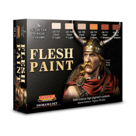 CS13 Lifecolor  Flesh paint set (This set contains 6 acrylic colors)