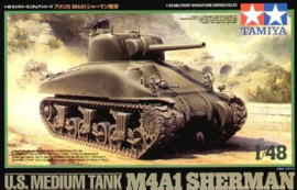 TA32523 1:48 Tamiya U.S. Medium Tank M4A1 Sherman