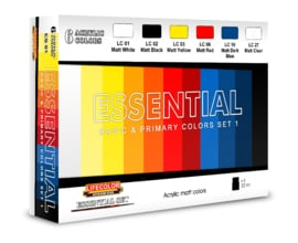 BES01 Lifecolor Essentials color set 1 (The Set Contains 6 acrylic colors)