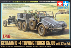 TA32580 1:48 Tamiya German 6x4 Towing Truck Kfz.69 with 3.7cm Pak
