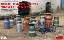 MN35580 1:35 Miniart Milk Cans with small cart