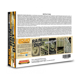 LP03  Lifecolor Liquid Pigments Rain & Dust (This set contains 5 Acrylic washes and a bottle of remover)