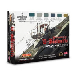 CS12 Lifecolor German WWII Kriegsmarine Set 2 (This set contains 6 acrylic colors)