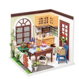DGM09 Robotime Mrs Charlie's Dining Room (DIY kit approxx 1:24)