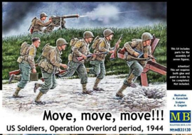 MB35130  1:35 Masterbox Move, move, move!!! U.S. Soldiers Operation Overlord period, 1944