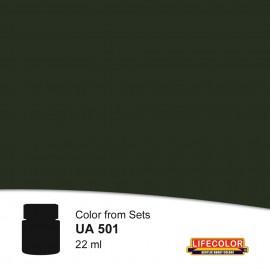 UA501 LifeColor Schwarzgrun rlm 70 FS34052 (22ml) (from set CS06)