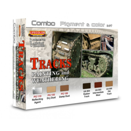 SPG02 Lifecolor Tracks Pigment & Colour Combo Set (This set contains 3 Acrylic colors and 3 pigments)