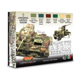 CS08 Lifecolor Italian WWII Regio Esercito  (This set contains 6 acrylic colors)