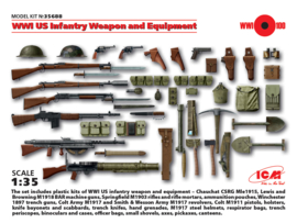 ICM35688 1:35 ICM WWI US Infantry weapon  and equipment set