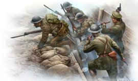 MB35114 1:35 Masterbox WW1 British Infantry Before the Attack (6 figure + trench section)
