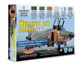 XS16 Lifecolor Hellenic Air Force Set 2  (The Set Contains 6 acrylic colors)