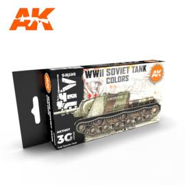 AK11657 3rd Gen WWII SOVIET TANK COLORS