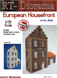RT35248 1:35 RT-Diorama European Housefront  Incl. lasered door and windows