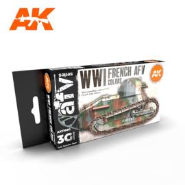 AK11660 3rd Gen WWI FRENCH AFV COLORS